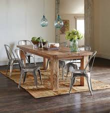 rustic dining room table. Room With Dining Tables, Rustic Tables Farmhouse Table Natural Finished Wooden Six Silver