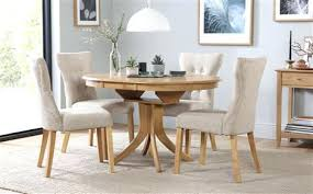 oak dining set round extending dining table 4 chairs set oatmeal oak extending dining table 4