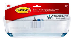 bath11 es command tm shower caddy with water resistant strips
