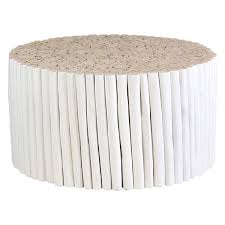 main natural wicker coffee table