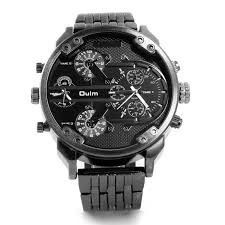popular oversized watches for men buy cheap oversized watches for 1pc lot mens brand oulm 3548 watch fashion full steel analog display unique oversized dial