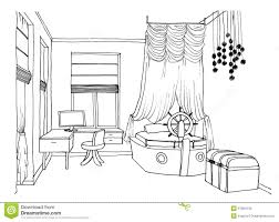 Living Room Coloring Interior Design Sketches Living Room Living Dining Room Sketch