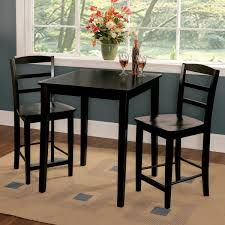 black counter height table and chairs monumental 3 piece dining room set madrid 30 inch free