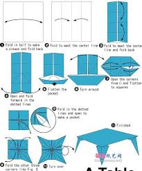 origami table origami table instructions