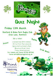 special irish round prizes for the winners irish decorations and face paint arrive from 7pm quiz starts promptly at 8pm maximum 8 per table
