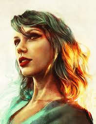 Small Picture Gorgeous Taylor Swift Art Print by Alice Zhang Illustration Friday
