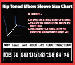 Elbow Sleeve Size Chart Elbow Compression Sleeve 1 Rip Toned Support Brace For Weightlifting Tennis Pain Tendonitis Arthritis