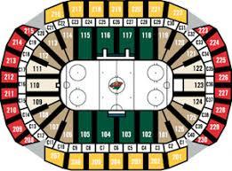 Xcel Center Hockey Seating Chart Sports Teams Stadiums In Minnesota