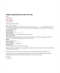 Samples Of Appointment Letter For An Employee Joining Letter Format Doc File Best Of Format Appointment Letter
