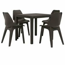 vidaxl 5 piece outdoor dining set