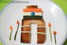 Tricolor India Gate Food Art Fun Republic Day