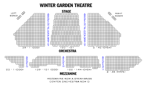 Winter Garden Theatre Nyc Seating Chart Winter Garden