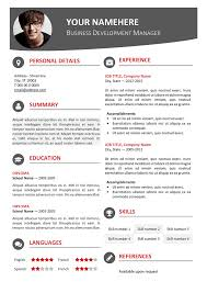 Contemporary Resume Format Simple Hongdae Free Modern Resume Template Red Classic Resume Templates