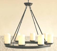 faux candle chandelier faux pillar candle chandelier edrex view 15 of 45