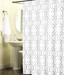 get ations a percent cotton shower curtain tile lattice inch by quatrefoil gray