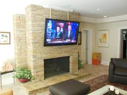 how to mount flat screen on stone fireplace ideas