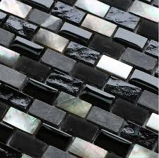 grey stone mosaic black glass mosaic kitchen backsplash tile sgmt093 glass shell mosaics silver metal mosaic bathroom tiles
