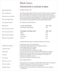 Executive Assistant Career Objective Administrative Assistant Resume Samples Executive Objective