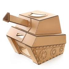 Cardboard House For Cats Tank Cardboard Cat House Military Spirit Awakens In Your Kitty