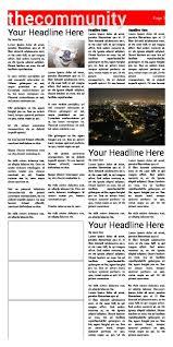 Newspaper Article Template Free Free Newspaper Templates Print And Digital Makemynewspaper Com