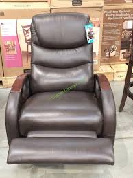 costco 1024885 true innovations leather swivel glider recline2