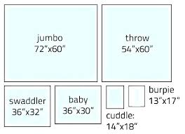 Throw Blanket Size Chart Baby Blanket Dimensions Blackbin Co