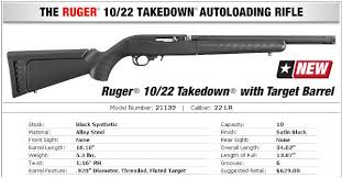 ruger 10 22 takedown target bull barrel suppressor