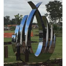 outdoor abstract large stainless steel