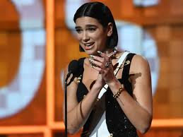 best new artist winner dua lipa took a shot at the grammys president who told women to step up at last year s awards