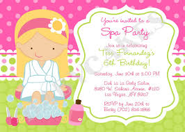 Fresh Spa Party Invitation Template Free And Birthday Invitation