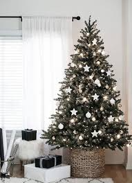 ... Rich Christmas tree with minimum decorations