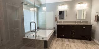 bathroom remodel tile shower. Brown Ceramic Floor Tile Bathroom Remodel Shower White Wall Paint Color Double Door Cabinet Looking