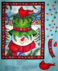 89 best Quilt Panels images on Pinterest | Quilt block patterns ... & 1 Christmas Quilt Fabric Panel Happy Snowman Wall Hanging Fabric Bird |  auntiechrisquiltfabric - Craft Supplies Adamdwight.com