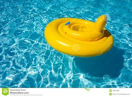 Inflatable Swimming Pool Float Tube Ring Baby Seat Stock Photo