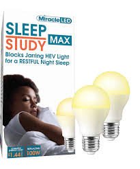 Amber Light For Sleep Miracleled 602016 Light Bulb 2 Pack Sleep Study Max Amber Glow