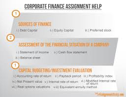corporate assignment help by industry practitioners corporate finance assignment help