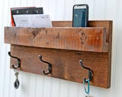 Rubbed Bronze Coat Rack Rustic Backdoor Coat Rack Mail Organizer Wall Mail Slot Key Rack 87