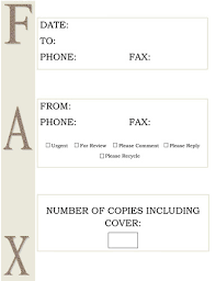 sample fax creative designs fax templates large brown letters fax cover sheet