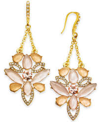 at macy s inc international concepts i n c gold tone pavé colored stone chandelier earrings created for