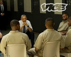 Image result for obama visiting prisons