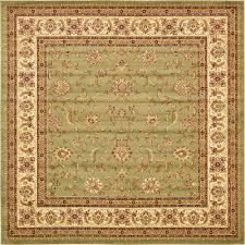 voyage green 10 x 10 square rug