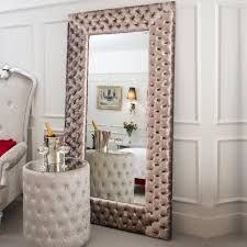 Small Picture Large Modern Button Upholstered Velvet Wall Mirror Juliettes