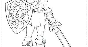 Legend Of Zelda Ocarina Of Time Coloring Pages Stylish Design The