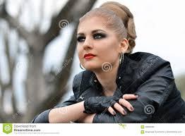 hair beauty biker betty boop makeup tutorial lady a judas wig royalty free stock photo