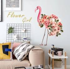 diy flamingo art wall decor decals mural pvc wall stickers home decor s souq uae