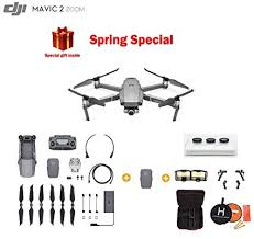 Mavic 2 Zoom Drone Quadcopter Photographer Bundle With Extra Battery Filter Set Landing Pad And Landing Gear