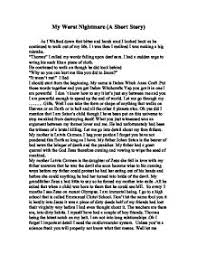 my worst nightmare a short story gcse english marked by  page 1 zoom in