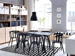 Ikea dining room chairs Linneryd Ikea Dining Room Furniture Large Dining Room With Black Dining Table And Six Chairs Crisalideinfo Ikea Dining Room Furniture Beautiful Dining Room Furniture Dining