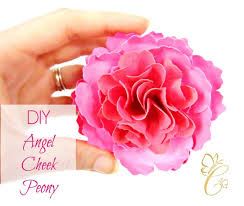 Paper Flower Kit Angel Cheek Peony Paper Flower Templates Diy Paper Flower Kit Svg Cut Files And Printable Pdf Templates
