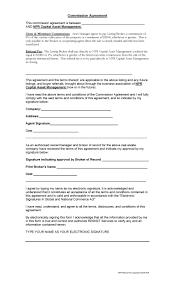 Commission agreement legal form that provides for a percentage of total sales commission. 36 Free Commission Agreements Sales Real Estate Contractor